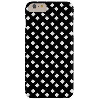 Blanco en diseño del diamante negro funda barely there iPhone 6 plus