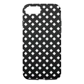 Blanco en diseño del diamante negro funda iPhone 7