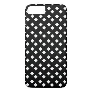 Blanco en diseño del diamante negro funda iPhone 7 plus