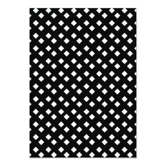 Blanco en diseño del diamante negro invitación 12,7 x 17,8 cm