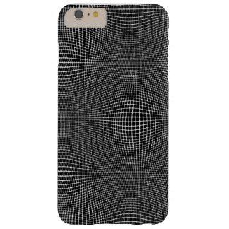 Blanco en espacio curvado negro funda barely there iPhone 6 plus