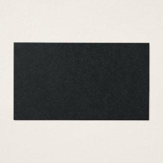 Blanco en tarjeta de visita moderna negra