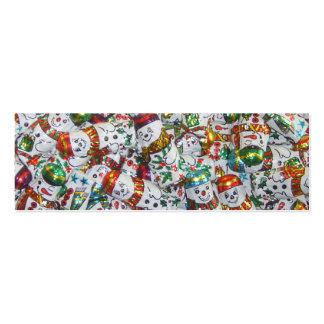 Blanco flaco de los muñecos de nieve de visita de tarjetas de visita mini