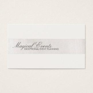 Blanco formal del consultor del boda tarjeta de visita