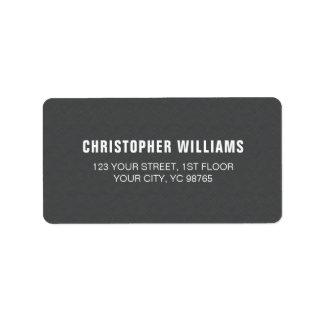 Blanco gris de la textura masculina elegante etiquetas de dirección