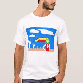 Blanco hermoso de la camiseta de los androides