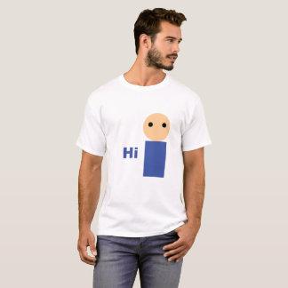 """Blanco """"hola"""" camiseta"""