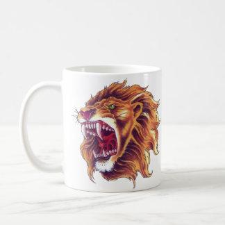 Blanco león clásico de la taza de 11 onzas