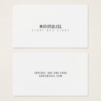 blanco limpio y claro elegante minimalista tarjeta de negocios