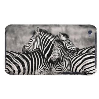Blanco lindo del negro del safari de la naturaleza cubierta para iPod de barely there