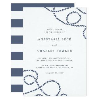 Blanco marinero de la invitación el | del boda