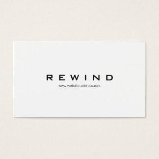 Blanco minimalista moderno profesional simple tarjeta de negocios