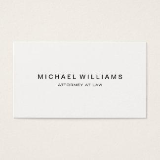 Blanco moderno minimalista profesional tarjeta de negocios