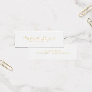 Blanco moderno simple profesional y oro tarjeta de visita mini