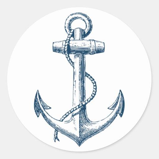 Blanco náutico de los azules marinos del regalo de ...