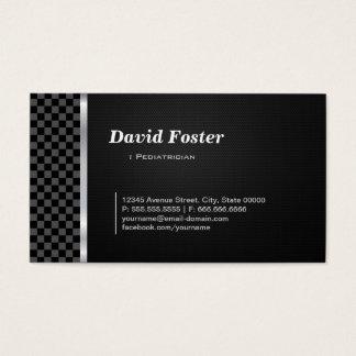 Blanco negro a cuadros del pediatra tarjeta de visita
