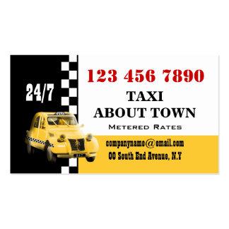 Blanco negro amarillo #6 del taxi plantillas de tarjetas de visita