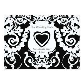 Blanco negro de la invitación los regalos de