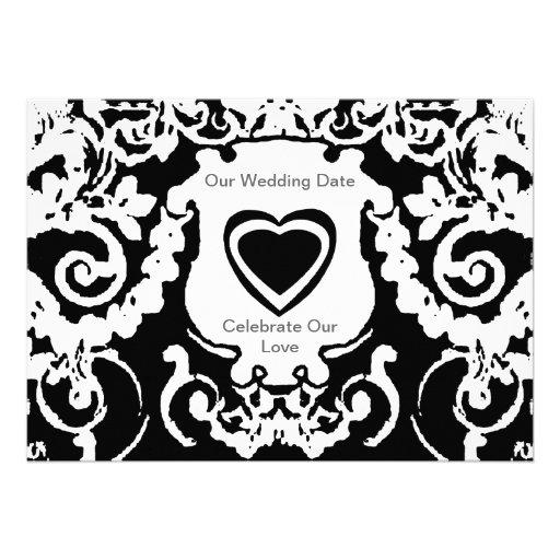 Blanco negro de la invitación los regalos de Zazzl
