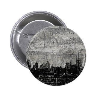 Blanco negro de Scape de la ciudad urbana sucia