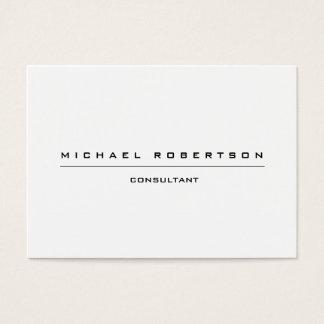 Blanco negro especial único llano grande tarjeta de negocios