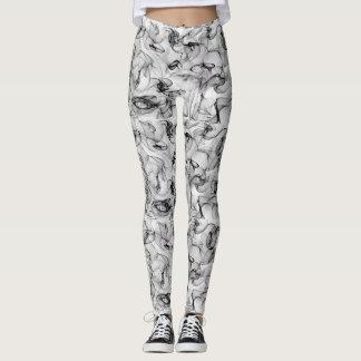 blanco negro leggings