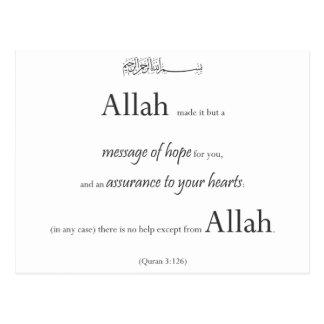 Blanco negro musulmán del Quran de Koran del error Postal