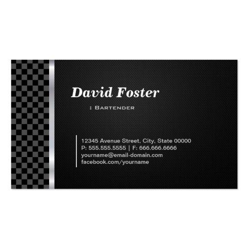 Blanco negro profesional del camarero plantilla de tarjeta de visita