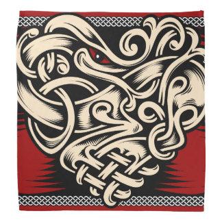 Blanco negro rojo del corazón céltico bandanas