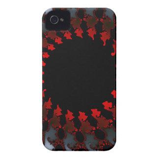 Blanco negro rojo del fractal carcasa para iPhone 4 de Case-Mate