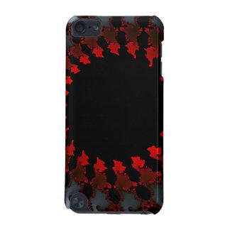 Blanco negro rojo del fractal funda para iPod touch 5