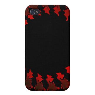 Blanco negro rojo del fractal iPhone 4 cobertura