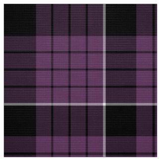 Blanco negro violeta ID305 del modelo del tartán Tela