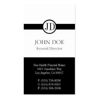 Blanco pendiente del director de funeraria plantilla de tarjeta personal
