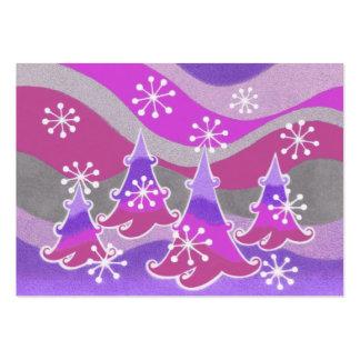 Blanco rechoncho púrpura de la tarjeta de visita d