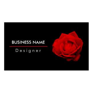 Blanco rojo del solo del rosa rojo negro elegante tarjetas de visita