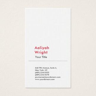 Blanco rojo profesional moderno llano minimalista tarjeta de visita
