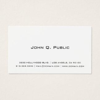 Blanco simple profesional tarjeta de visita