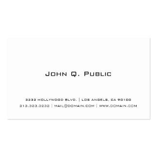 Blanco simple profesional tarjetas de visita