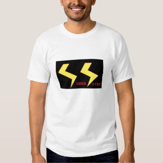 Blanco sobrio de la camiseta de los SS del punto