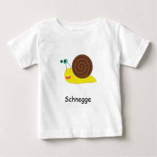 """Blanco T-shirt para bebés con caracol """"Schnegge """""""