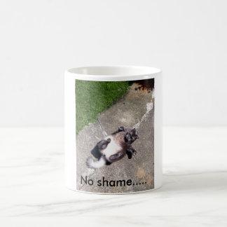 Blanco taza blanca clásica de 325 ml. Ningún gato