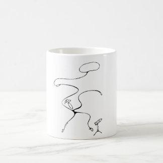 Blanco taza blanca clásica de 325 ml. Vaquero