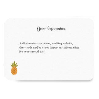 Blanco tropical bilingüe de la tarjeta de invitación 8,9 x 12,7 cm