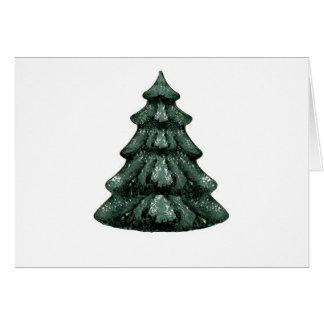 Blanco verde OL del árbol de navidad el MUSEO Zazz Tarjeta De Felicitación