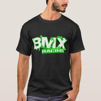 BLANCO VERDE QUE COMPITE CON DE BMX CAMISETA