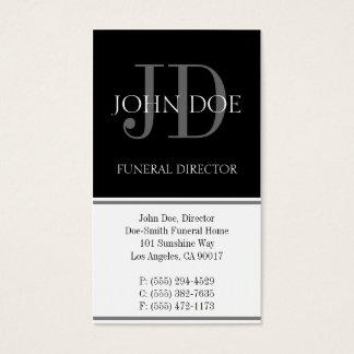 Blanco vertical del director de funeraria tarjeta de negocios
