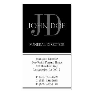 Blanco vertical del director de funeraria plantillas de tarjeta de negocio