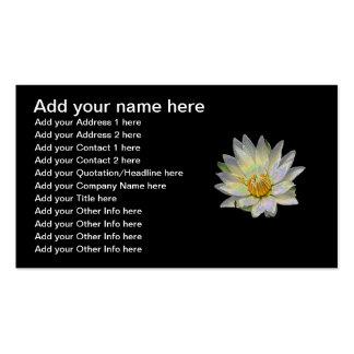 Blanco waterlily con efecto especial del esmalte tarjeta de visita