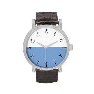 Blanco y azul claro relojes de pulsera